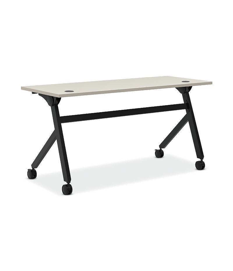 basyx Multi Purpose Flip Base Table White HBMPT6024P.QZ