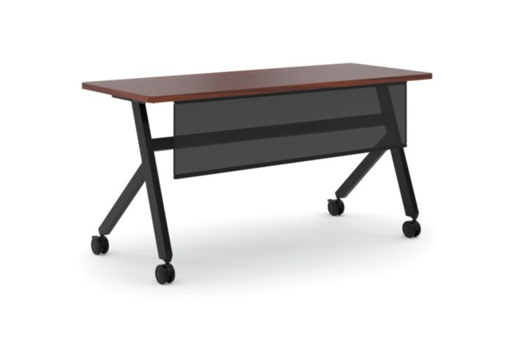 basyx Fixed Base Table With Panel Brown HBMPT6024X.C1