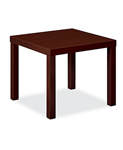 basyx Occasional Corner Table Mahogany Color HBLH3170.N