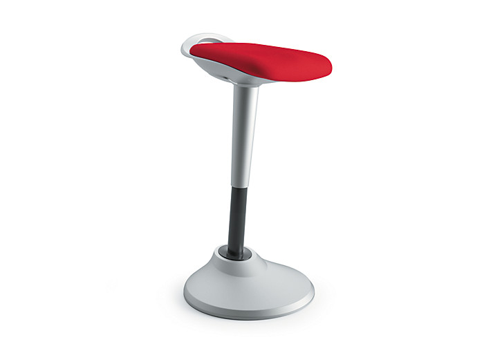 basyx Perch Stool Red Front Side View HVLPERCH.ASF42.X