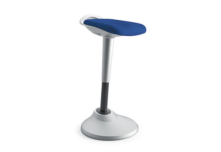 basyx Perch Stool Blue Front Side View HVLPERCH.ASF90.X