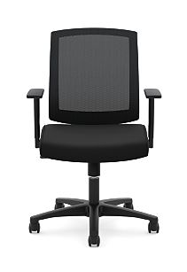 basyx Task Seating Mesh Mid-Back Task Chair Black Front View HVL511.LH10