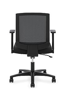 basyx Task Seating Mesh Mid-Back Task Chair Black Back View HVL511.LH10