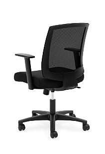 basyx Task Seating Mesh Mid-Back Task Chair Black Back Side View HVL511.LH10