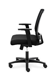 basyx Task Seating Mesh Mid-Back Task Chair Black Side View HVL511.LH10