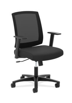 basyx Task Seating Mesh Mid-Back Task Chair Black Front Side View HVL511.LH10