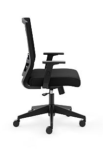 basyx Task Seating Mesh High-Back Task Chair Black Side View HVL541.LH10