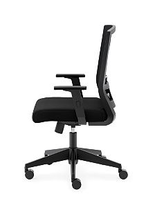 basyx Task Seating Mesh High-Back Task Chair Side View HVL541.LH10