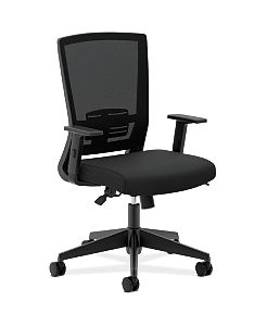 basyx Task Seating Mesh High-Back Task Chair Black Front Side View HVL541.LH10