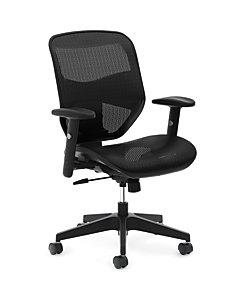 basyx VL530 Mesh High-Back Task Chair Black Front Side View HVL534.MST3