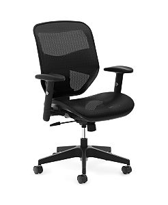 basyx VL530 Mesh High-Back Task Chair Black Front Side View HVL534.MST3