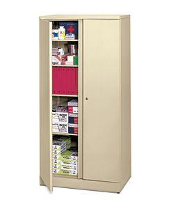 basyx-basyxbyHON Metal Storage Cabinet Light Brown Front Side View HC187236.L