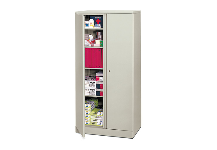 basyx-basyxbyHON Metal Storage Cabinet White Front Side View HC187236.Q