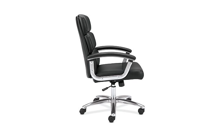 basyx basyx By Hon Executive Chair Black Leather Side View HVL103.SB11