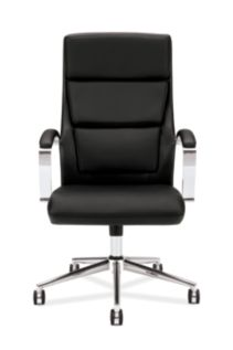basyx basyx By Hon Executive Chair Black Leather Front View HVL105.SB11