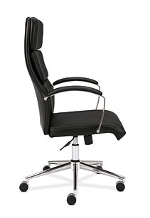 basyx basyx By Hon Executive Chair Black Leather Side View HVL105.SB11