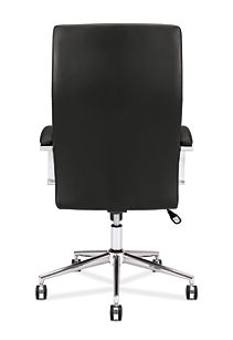 basyx basyx By Hon Executive Chair Black Leather Back View HVL105.SB11